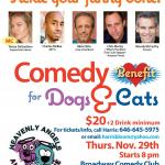 Comedy Benefit for Dogs and Cats
