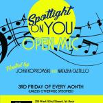 Spotlight On You Open Mic