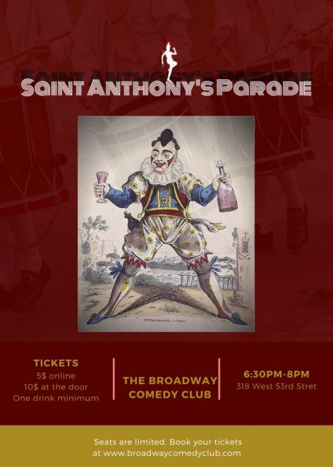 St Anthony's Parade - April 19th 6:30PM